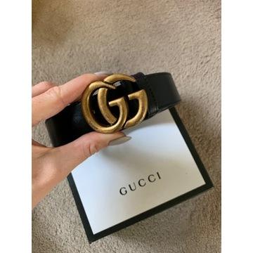 Pasek G litera złota wzór 110 cm