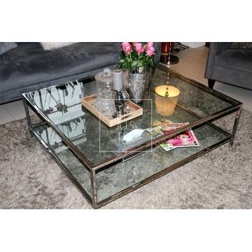 Ława szkło hartowane - stal szlachetna 150x150cm