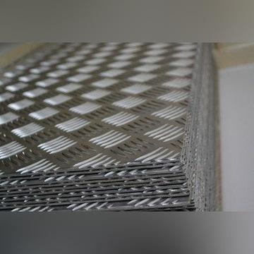 Blacha ryflowana aluminiowa 2mm 150x300