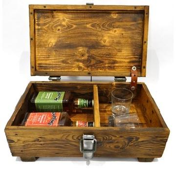 Skrzynka drewniana na alkohol prezent skrzynia