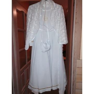Sukienka suknia komunijna do komunii z akcesoriami