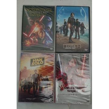 Gwiezdne wojny 4 x dvd han solo,ostatni jedi