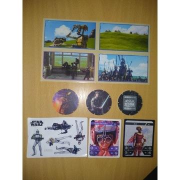 Star Wars tazo, naklejki, karty