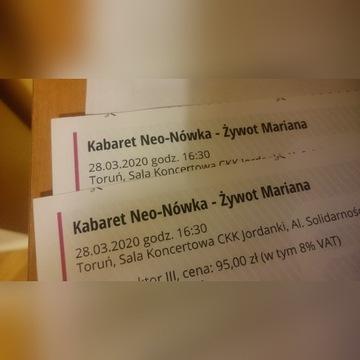 Kabaret Neo-Nówka - Żywot Mariana, 2 bilety, Toruń