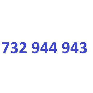 732 944 943 starter play ładny złoty numer