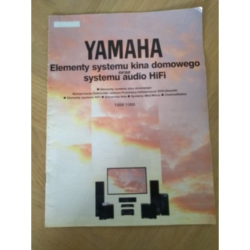 Yamaha broszura Elementy systemu kina domowego