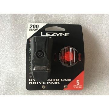 LEZYNE LED KTV DIRIVE USB 220 lm , Femto 5 lm