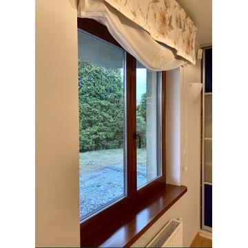 Okno drewniane z osprzętem