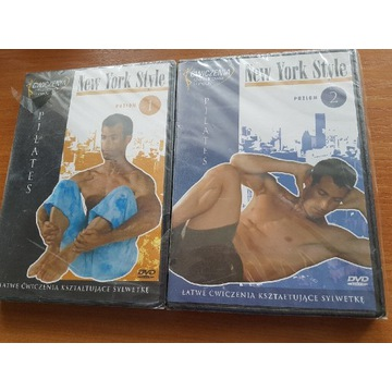 Pilates płyty DVD 2 czesci w folii