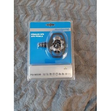 Pedały zatrzaskowe Shimano PD-M530, nowe