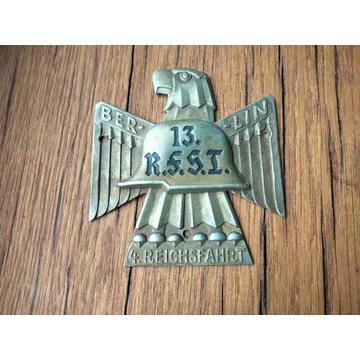 medal-Plakietka-Reichsfahrt Berlin