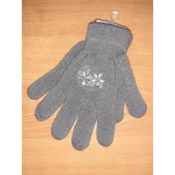 Nowe rękawiczki dla dziewczynki damskie 17 18cm S