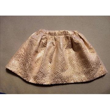 Złota spódniczka z kokardą roz.98