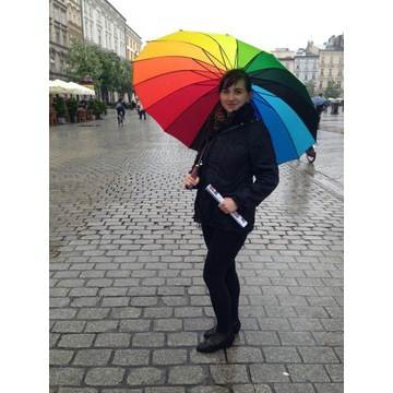 Solidny niemiecki parasol tęcza LGBT Berlin+GRATIS