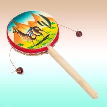 Bębenek ręcznie malowany indiański Peru tamburyn
