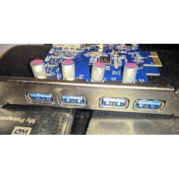 Karta adapter przejściówka PCI-E do USB 3.0x4 uszk