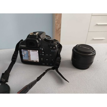 Canon EOS 1100D + obiektyw 50mm 1:1.8 + GRATIS