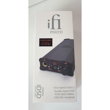 Wzmacniacz słuchawkowy DAC ifi iDSD Micro Black