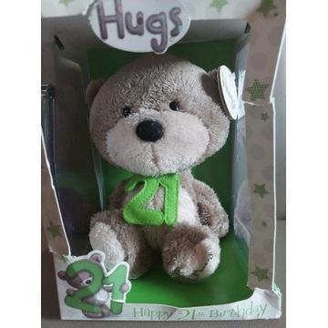 Miś Misiu HUGS urodzinowy nowy