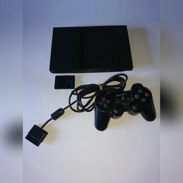 PLAYSTATION 2 SLIM + PAD KABLE 2 GRY