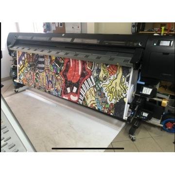 Ploter Latex HP L28500 + 5 głowic + 3 kasety