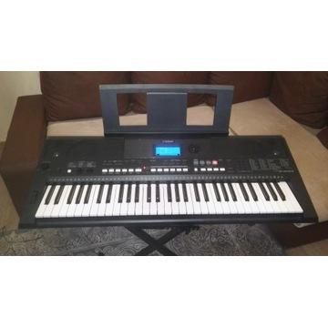 Keyboard YAMAHA PSR E433 statyw pokrowiec zasilacz