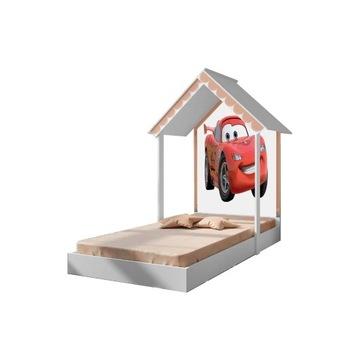 Łóżko domek Teddy Princess Cars z materacem