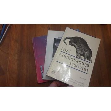 Trzy książki - systemy operacyjne DOS, Unix