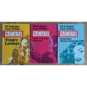 Criminal tom 1, 2, 3 Mucha Comics