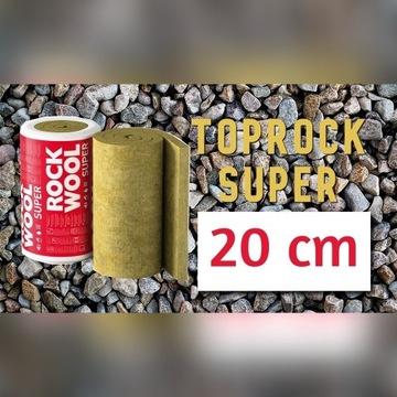 Wełna mineralna Rockwool 20cm 0,035 Toprock SUPER