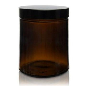 Słoik, pojemnik szklany brązowy 180 ml