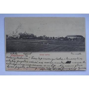 NIEPOŁOMICE - SZKOŁA, KOŚCIÓŁ, ZAMEK - przed 1905
