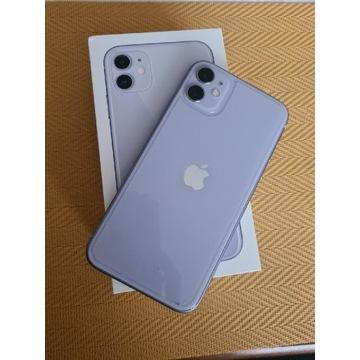 Apple Iphone 11 64GB Fiolet STAN BDB MEGA ZESTAW