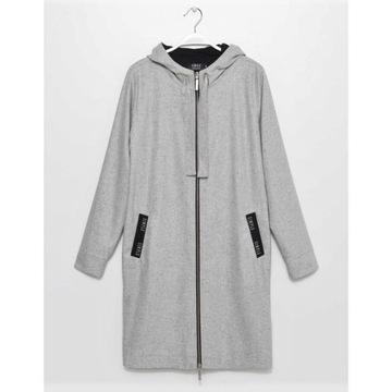 Płaszcz SIMPLE CP r.36 oversize, jasnoszary, NOWY
