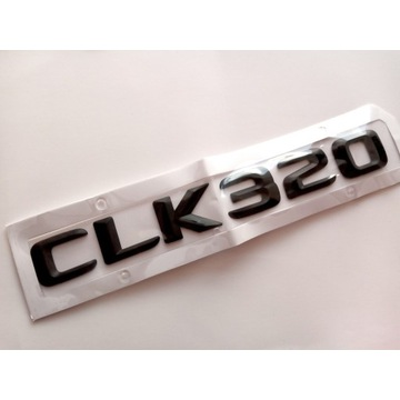 Mercedes CLK 320 W208 W209 - emblemat czarny mat