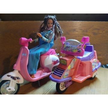 Barbie zestaw skutery + lalka