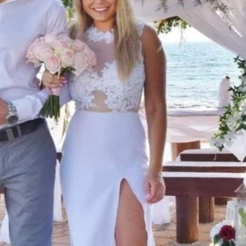Suknia sukienka ślubna długa koronka N. Mosh
