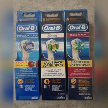 Końcówki do szczoteczki oral b 5szt