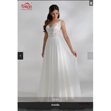 Sukienka ślubna ciążowa 6-7 miesiąc + welon gratis