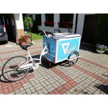 Riksza wózek do sprzedaży lodów