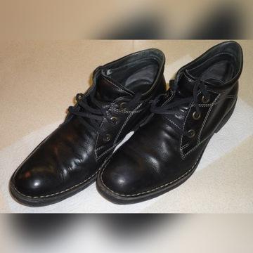 RYŁKO czarne trzewiki buty zimowe roz.45 stan BDB