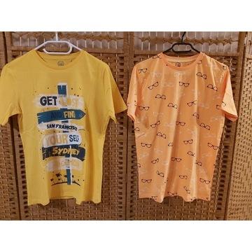 47. Koszulki 2szt dla chłopca SMYK r. 164 NOWE