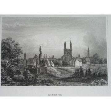 1852 POLSKA LEGNICA ŚLĄSK panorama ORYGINAŁ
