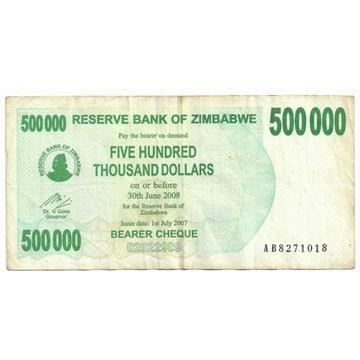 Zimbabwe 500000Dolarów 2008r