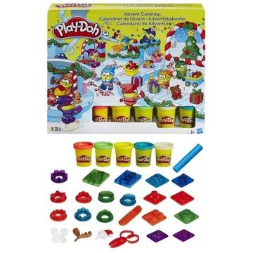 Play-Doh Kalendarz Adwentowy Mikołajkowy + GRATIS