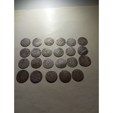 Zestaw 23 monet XVII w.