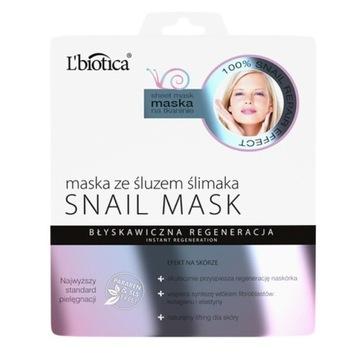 L'biotica Maska z olejem z dzikiej róży rozświetla