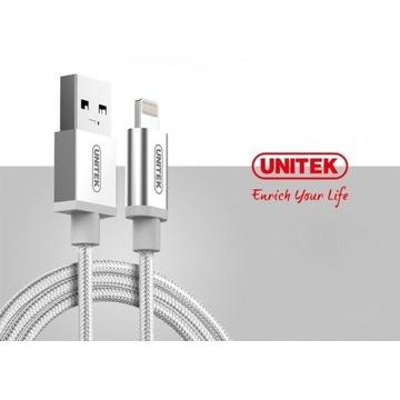 Przewód USB-Lightning 1m srebrny
