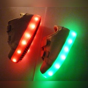Buty LED świecące 11 opcji świecenia rozm 23 białe