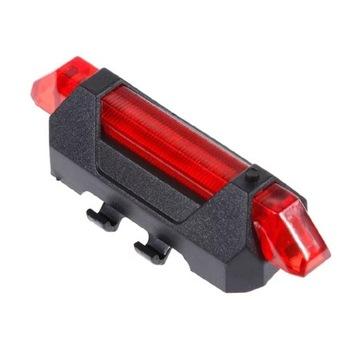 Rowerowe światło mtb górski LED na USB tylna lampa